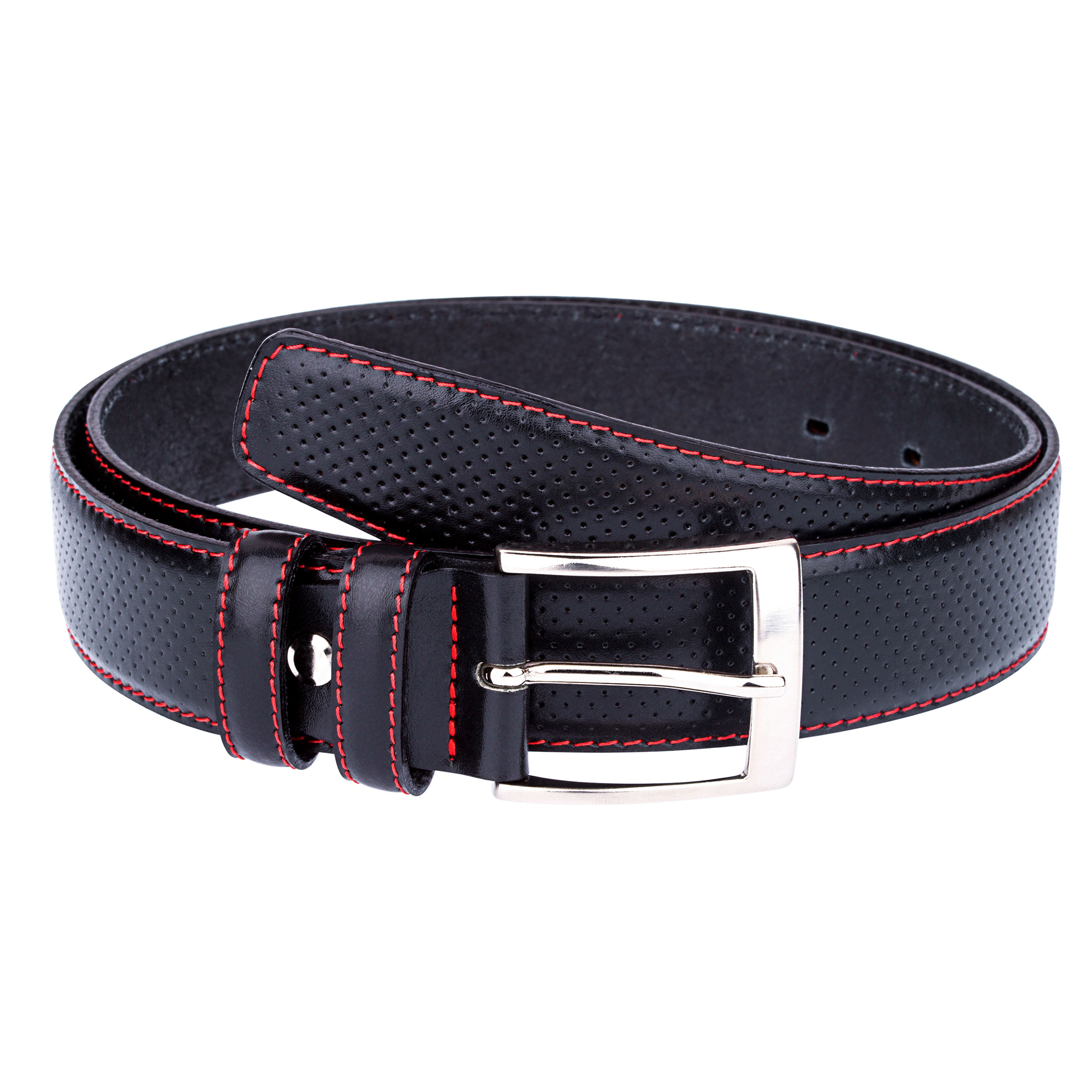golf belts for black perforated leather belt