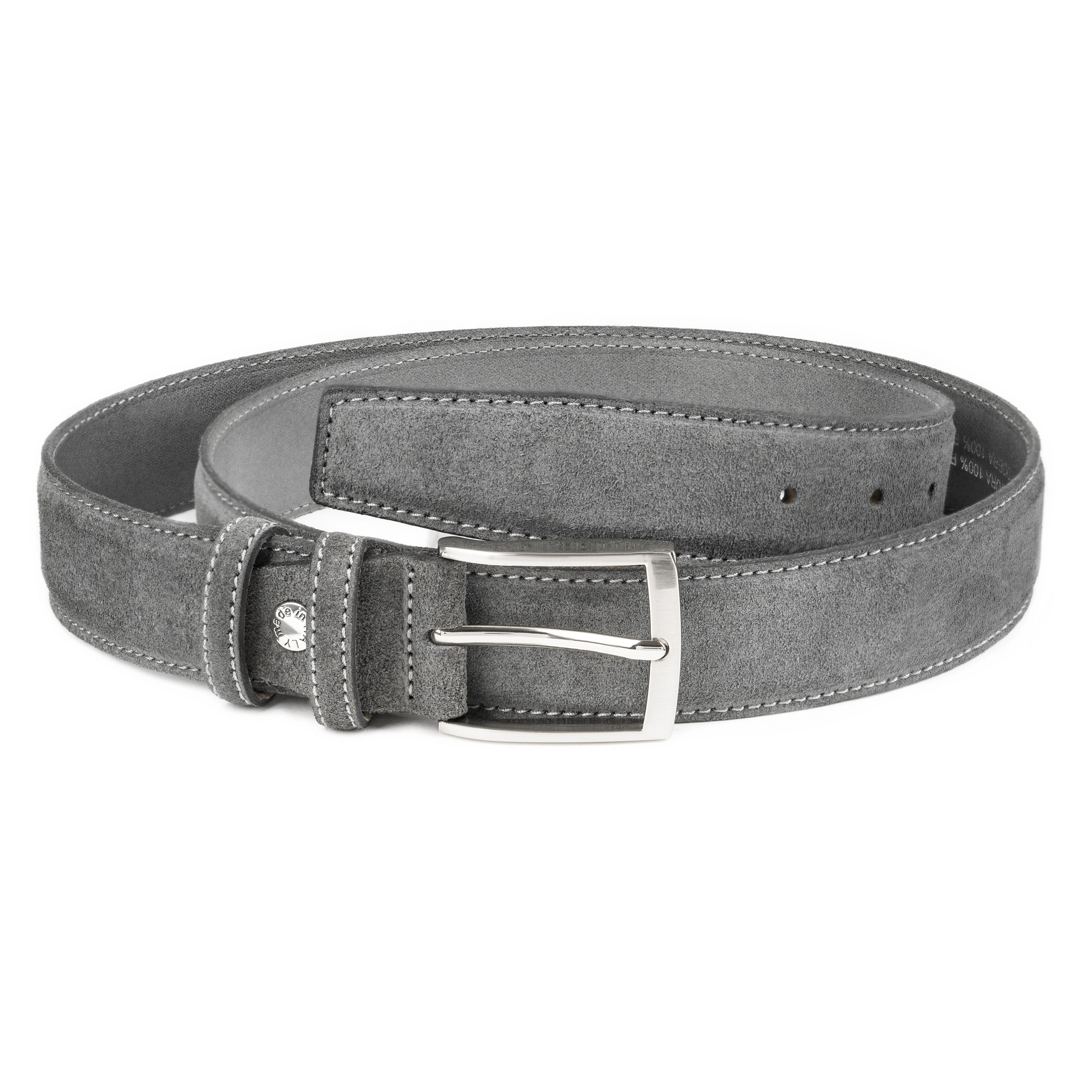 Details about Gray Suede Belt for Men Womens belts by Capo Pelle Italian  leather Casual Jeans 2f767a87f