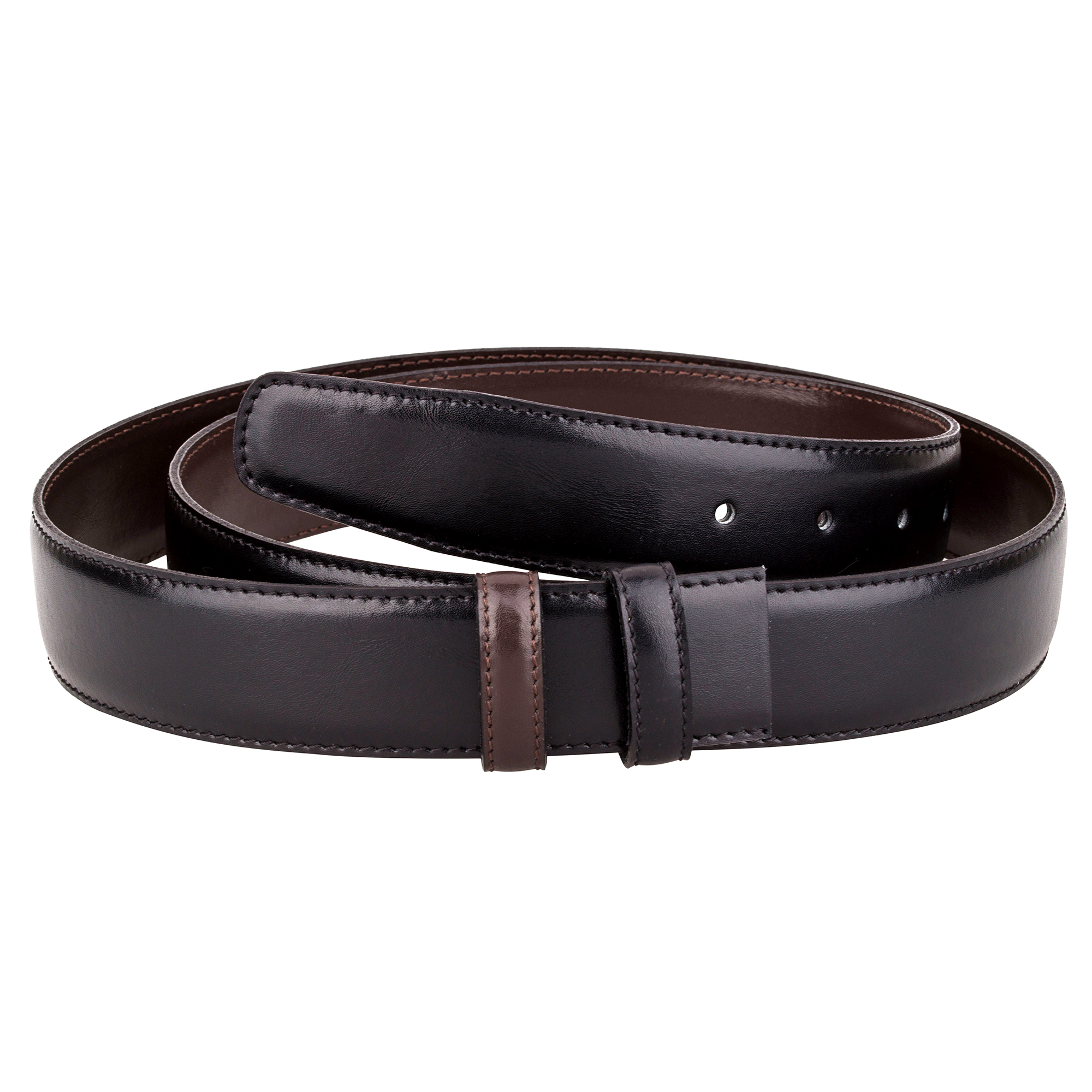 Men's Wearhouse Brown and Black Reversible Big and Tall Leather Belt $ This fine quality leather belt reverses from all black to all brown with the twist of its matte silver-tone belt buckle.