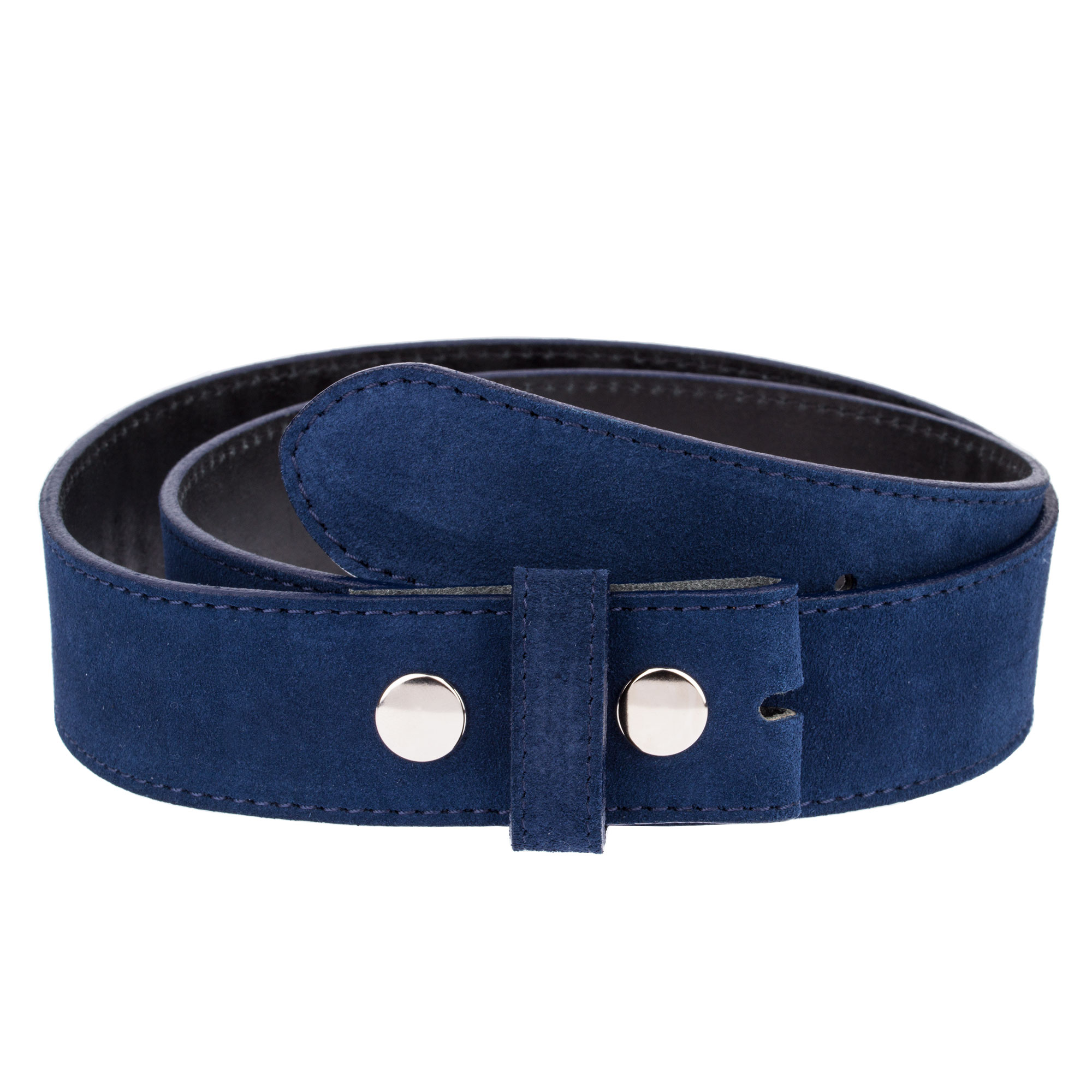 73f09acf9 Details about Rodeo Cowboy Belt strap Snap on For Western Belts Buckles  Blue suede leather