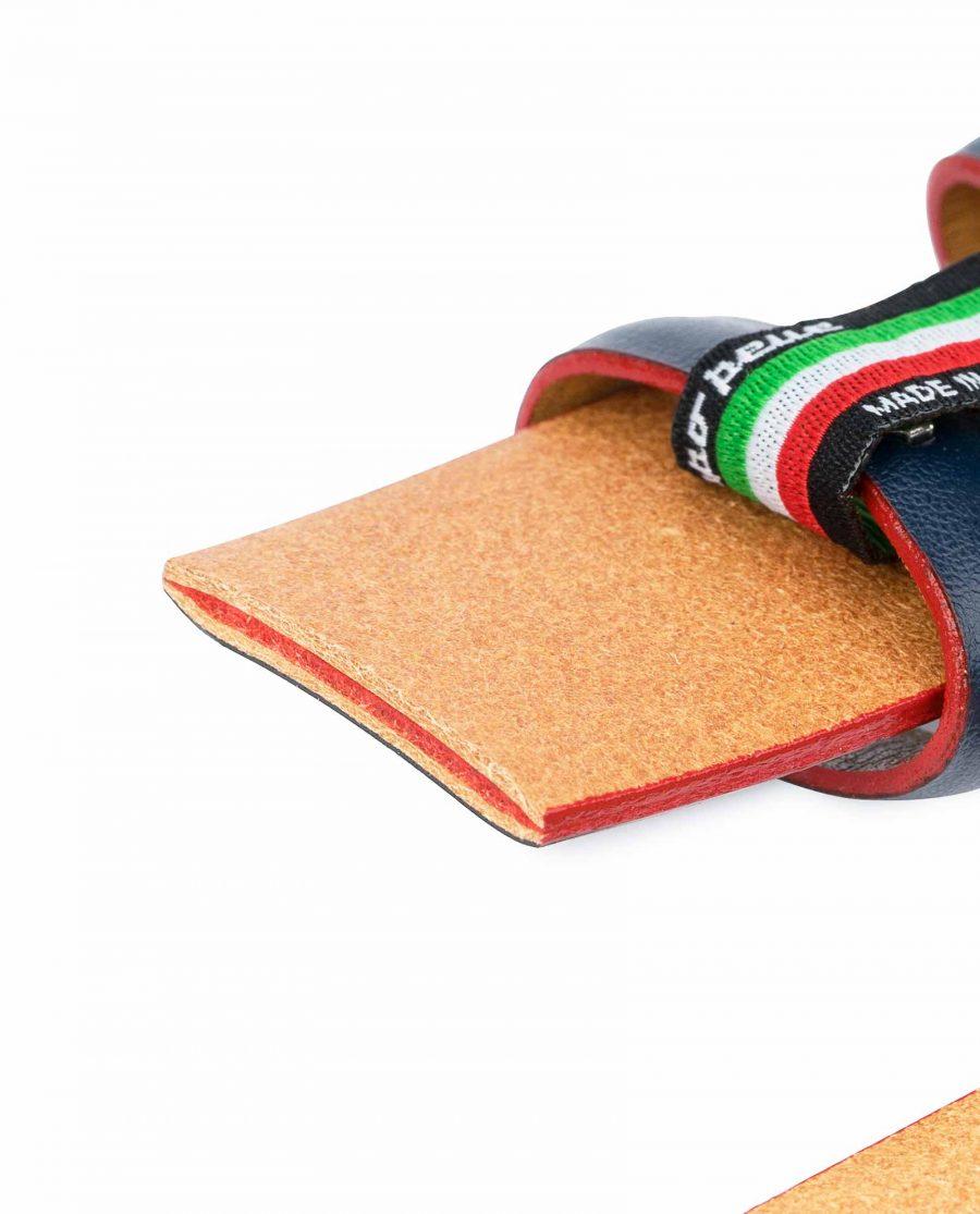 1-3-8-inch-Blue-Leather-Belt-Strap-with-Red-Edges-Dark-navy