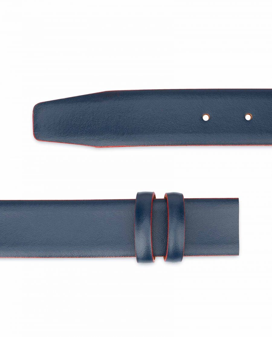 1-3-8-inch-Blue-Leather-Belt-Strap-with-Red-Edges-Italian-leather