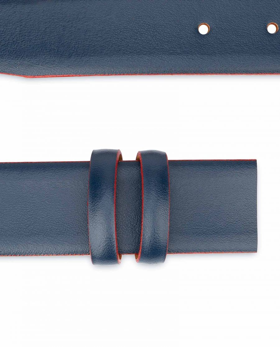1-3-8-inch-Blue-Leather-Belt-Strap-with-Red-Edges-Replacement