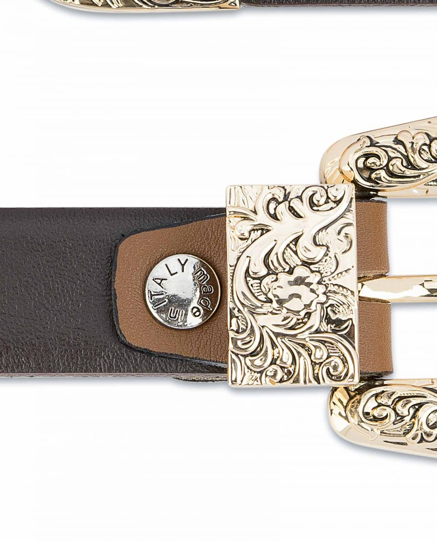 1-Inch-Brown-Western-Belt-Womens-Floral-Gold-Buckle-Belt-screw