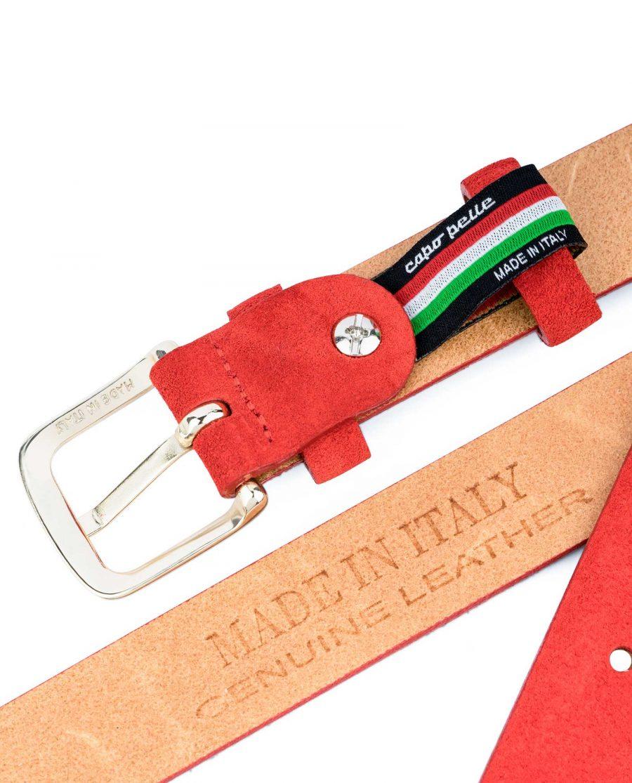 1-Inch-Red-Suede-Belt-Belt-holder