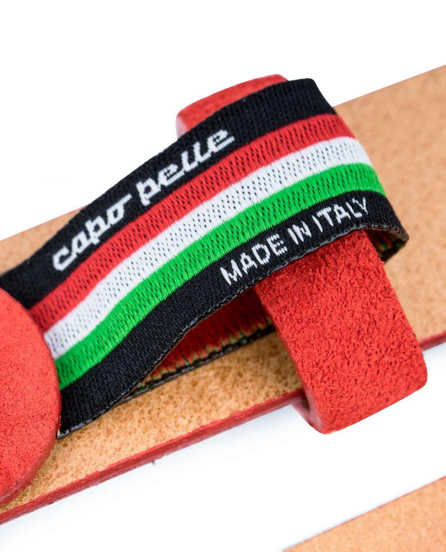 1-Inch-Red-Suede-Belt-Capo-Pelle