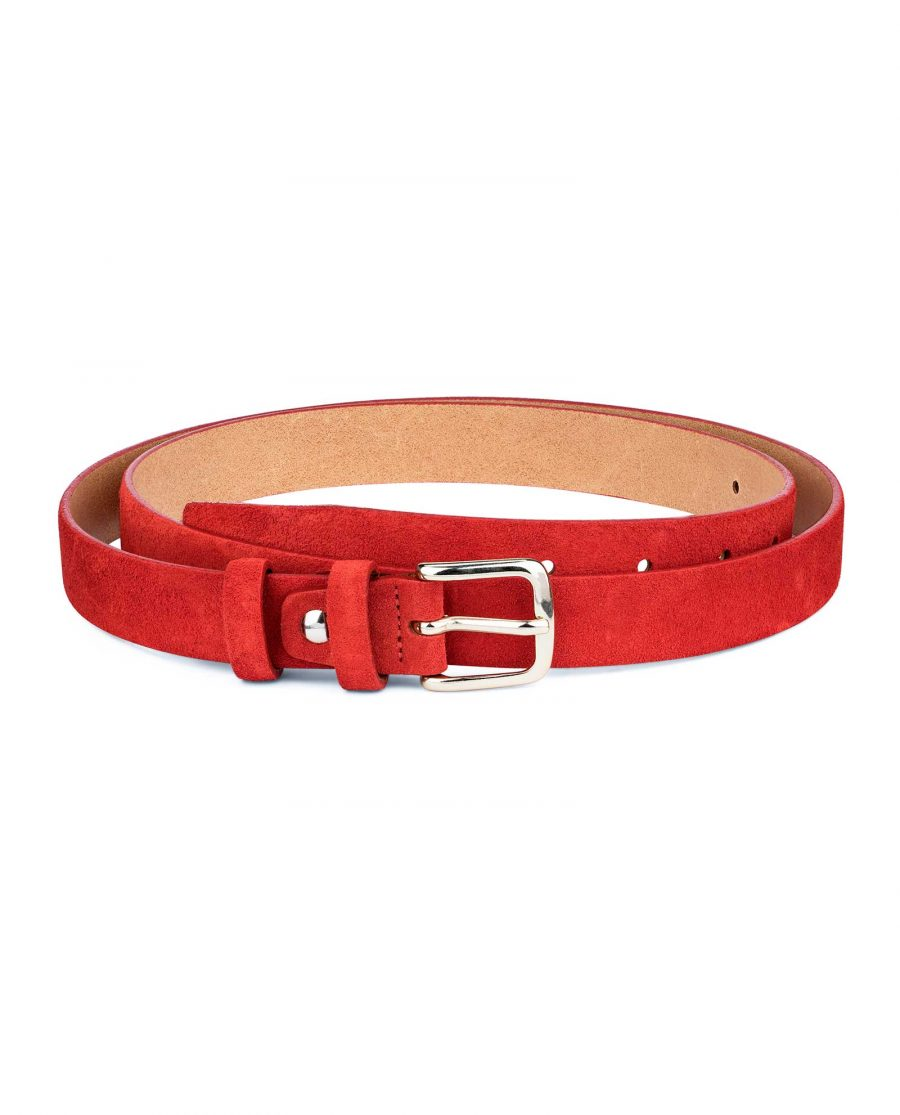1-Inch-Red-Suede-Belt-Main-picture