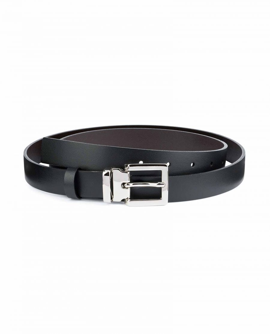 1-Thin-Leather-Belt-Black-Brown-Smooth-Capo-Pelle
