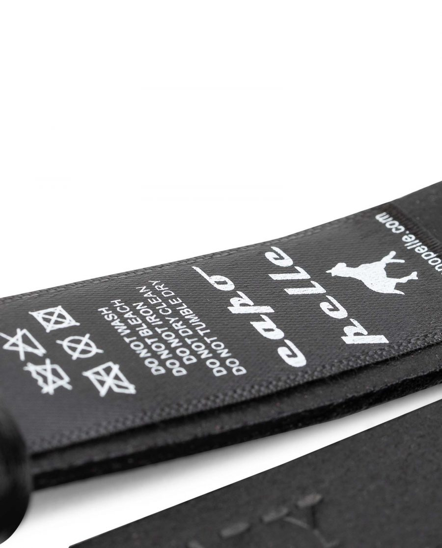 1-inch-Belt-Strap-in-Black-Smooth-Leather-25-mm-by-Capo-Pelle-Care-tag-1