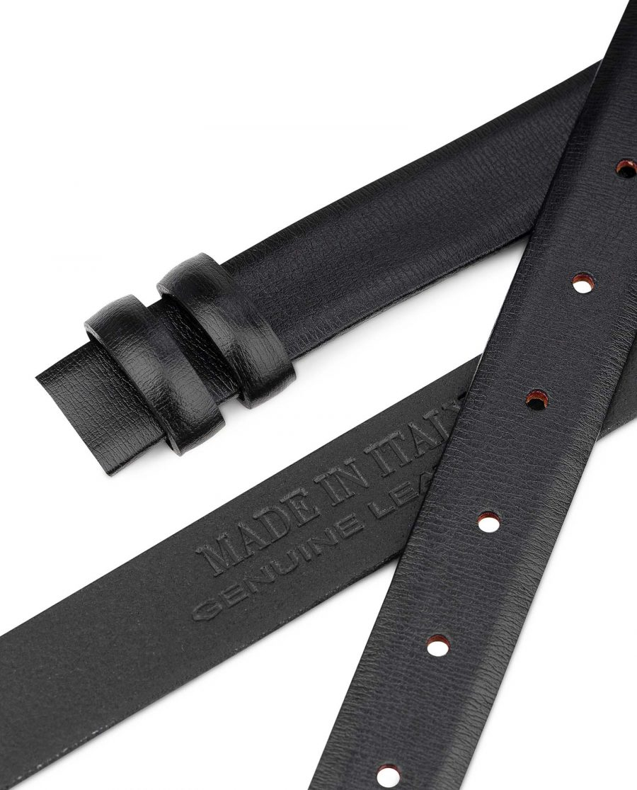 1-inch-Belt-Strap-in-Black-Smooth-Leather-25-mm-by-Capo-Pelle-Made-in-Italy-1