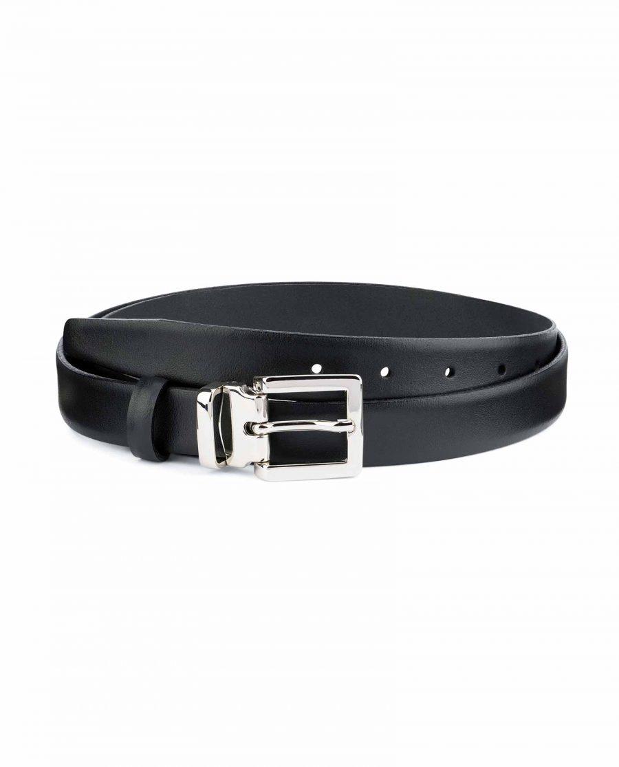 1-inch-Black-Leather-Belt-25-mm-Italian-Buckle-Capo-Pelle