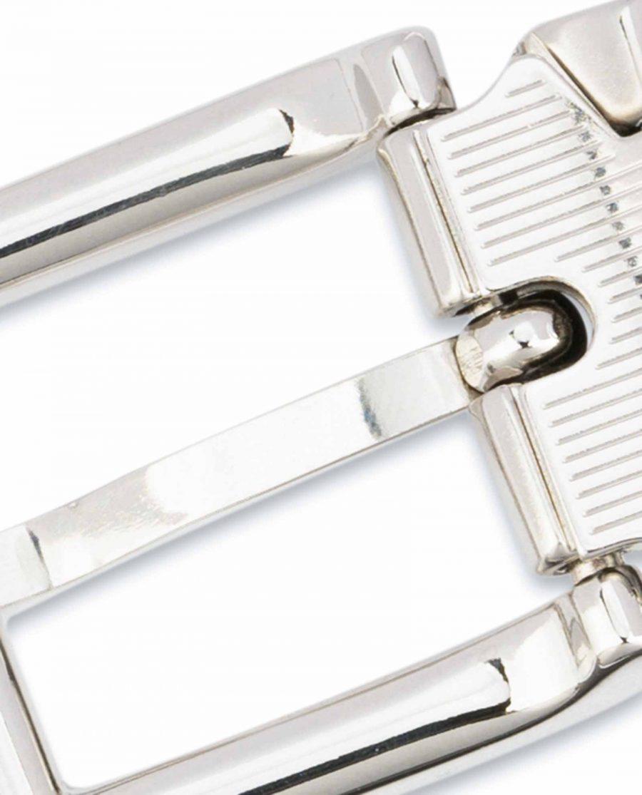 1-inch-Black-Leather-Belt-25-mm-Italian-Buckle-Silver-nickel