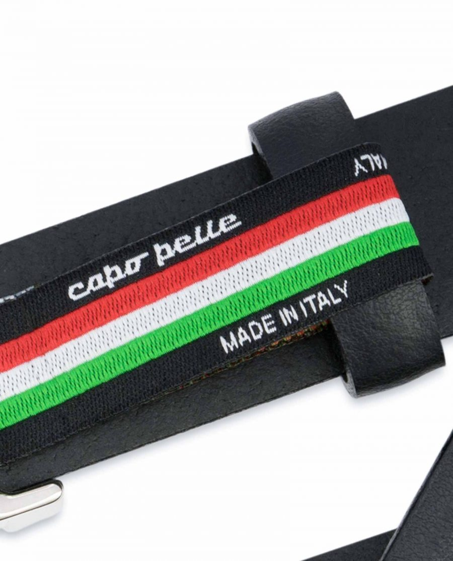 1-inch-Black-Leather-Belt-25-mm-Italian-Buckle-Woven-tag