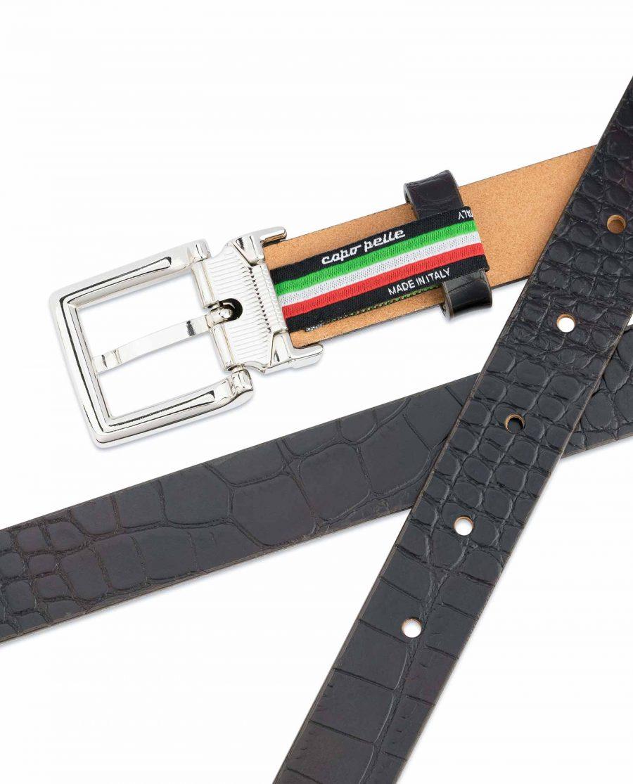 1-inch-Croco-Belt-Dark-Brown-Embossed-Leather-Crocodile