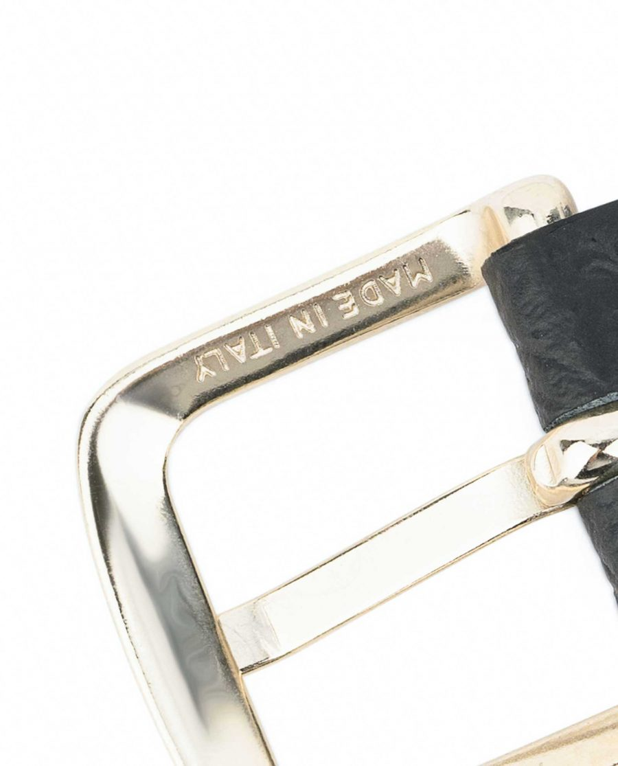 1-inch-Croco-Mens-Skinny-Belt-25-mm-Capo-Pelle-Buckle-made-in-Italy