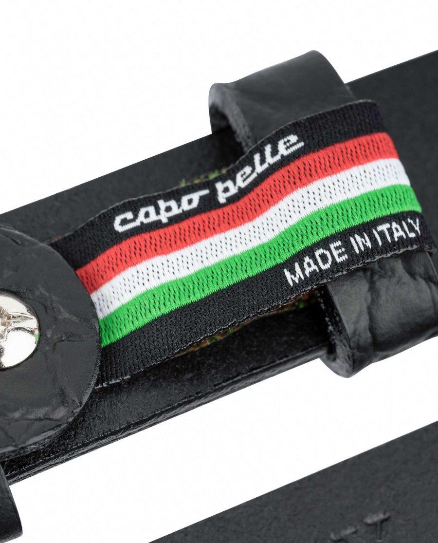 1-inch-Croco-Mens-Skinny-Belt-25-mm-Capo-Pelle-Made-in-Italy