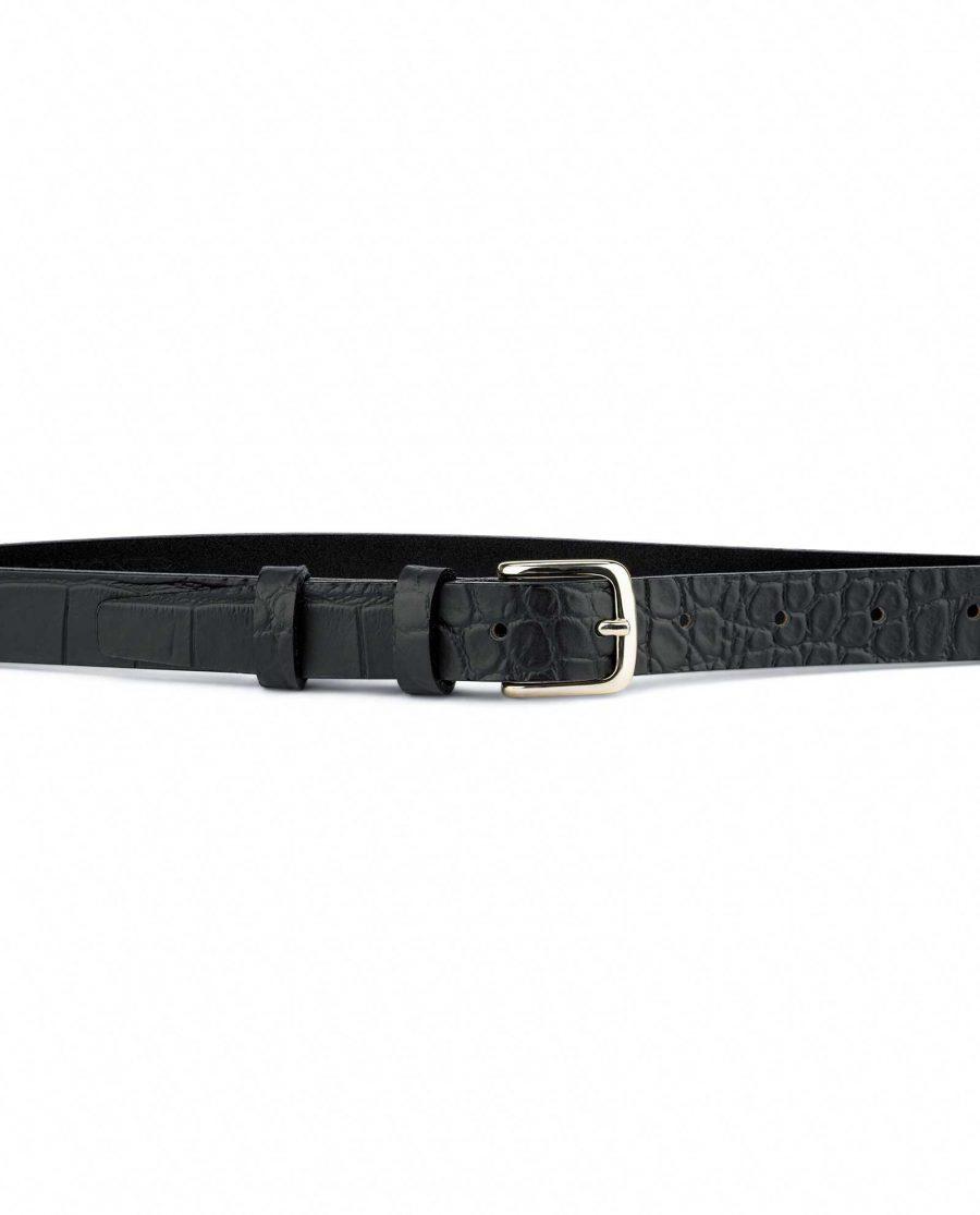 1-inch-Croco-Mens-Skinny-Belt-25-mm-Capo-Pelle-on-Pants