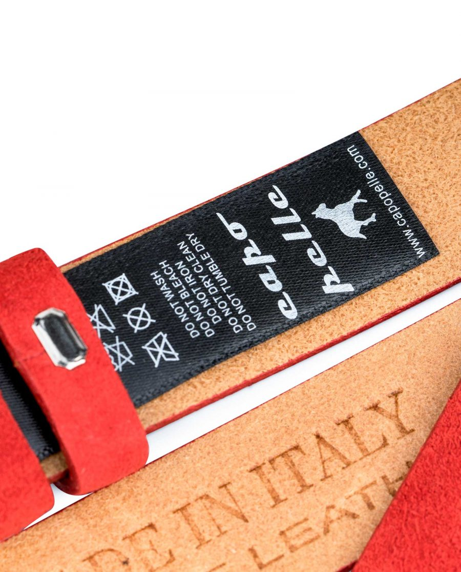1-inch-Red-Suede-Belt-Strap-Replacement-Care-label