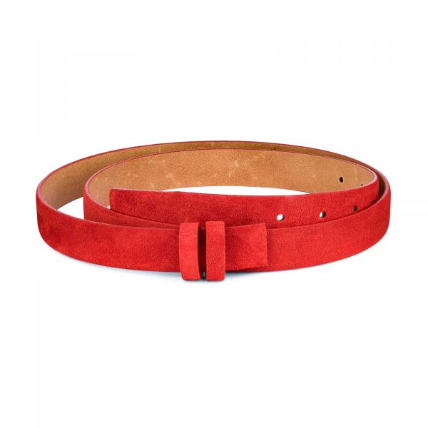 1-inch-Red-Suede-Belt-Strap-Replacement-First-image