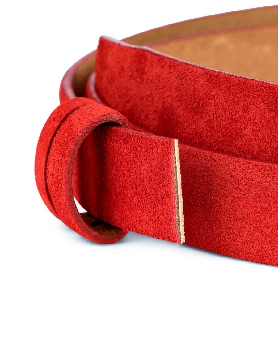 1-inch-Red-Suede-Belt-Strap-Replacement-Loops