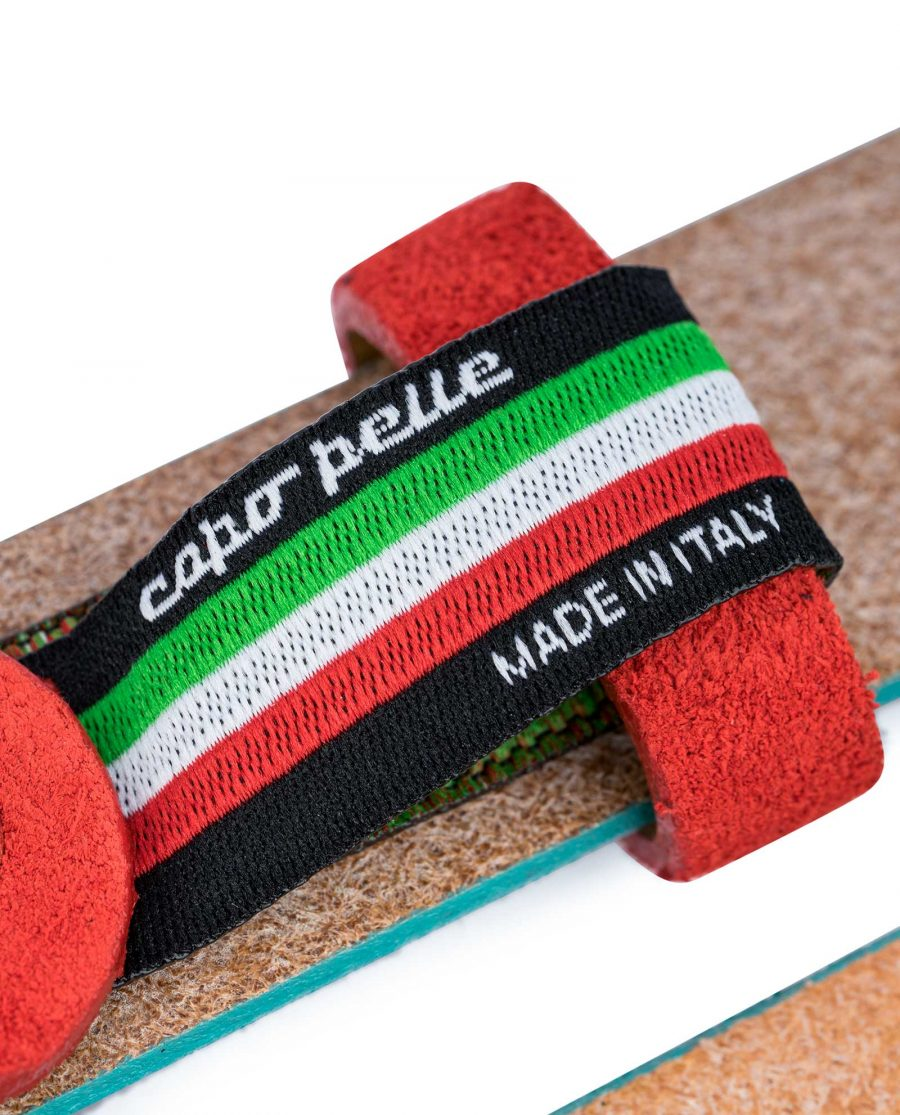 1-inch-Suede-Turquoise-Leather-Belt-with-Red-Care-tag