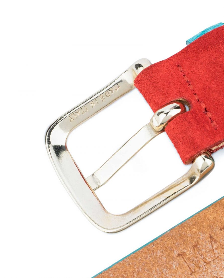 1-inch-Suede-Turquoise-Leather-Belt-with-Red-Made-in-Italy-buckle