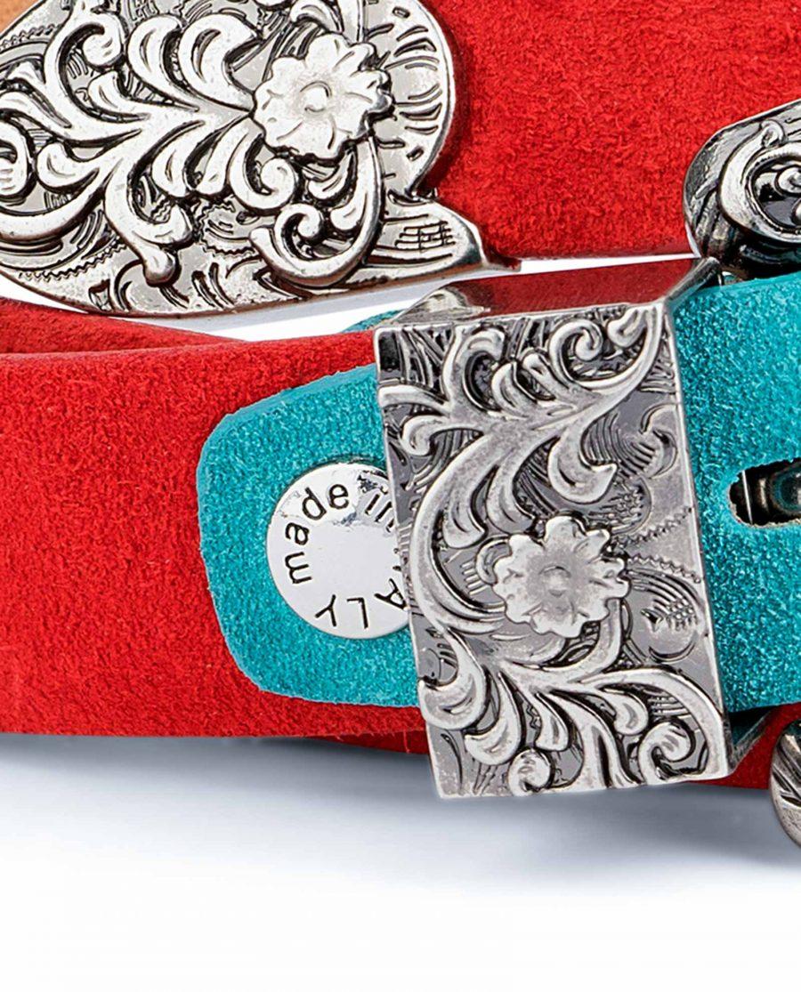 1-inch-Western-Belt-Womens-Red-Suede-Leather-Belt-screw