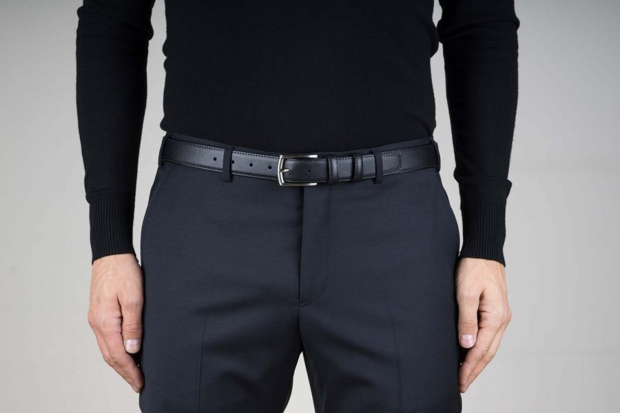 3-cm-Saffiano-Leather-Belt-in-Black-Live-on-Pants