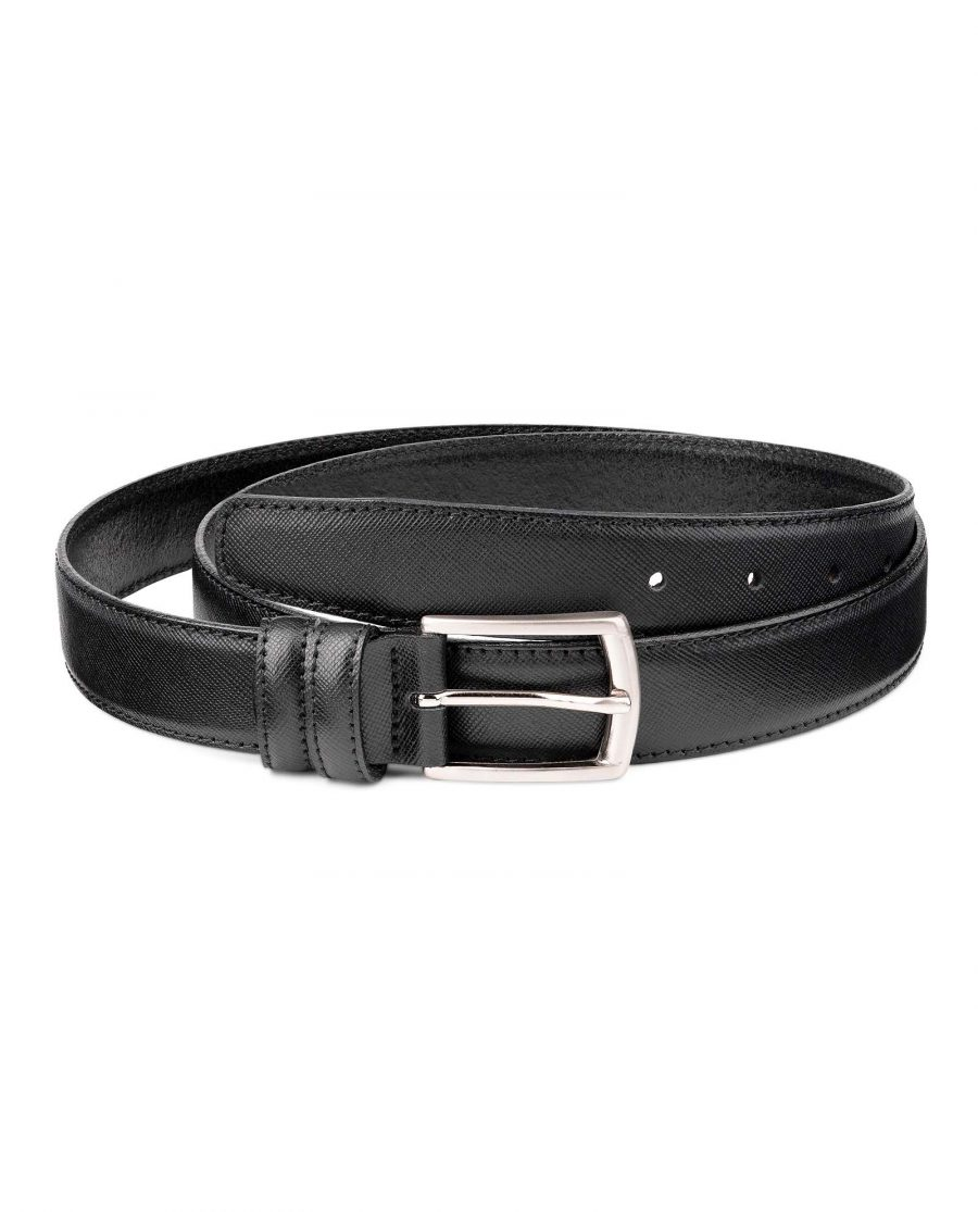 3-cm-Saffiano-Leather-Belt-in-Black-by-Capo-Pelle-Featured-image
