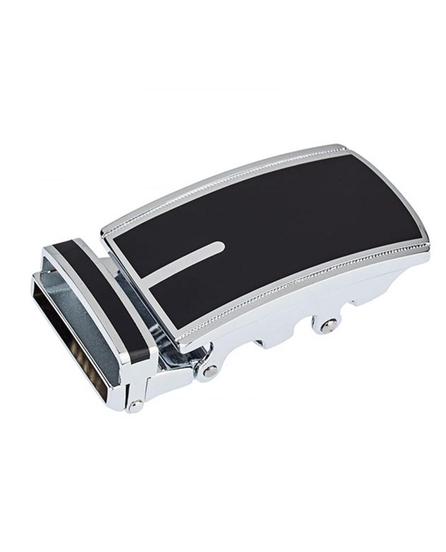 Automatic-Belt-Buckle-In-Black-Front