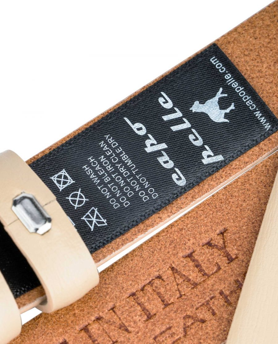 Beige-1-Inch-Wide-Leather-Belt-Strap-Replacement-Care-label
