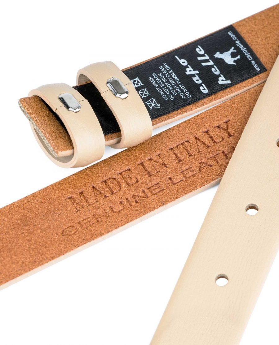 Beige-1-Inch-Wide-Leather-Belt-Strap-Replacement-Heat-stamp