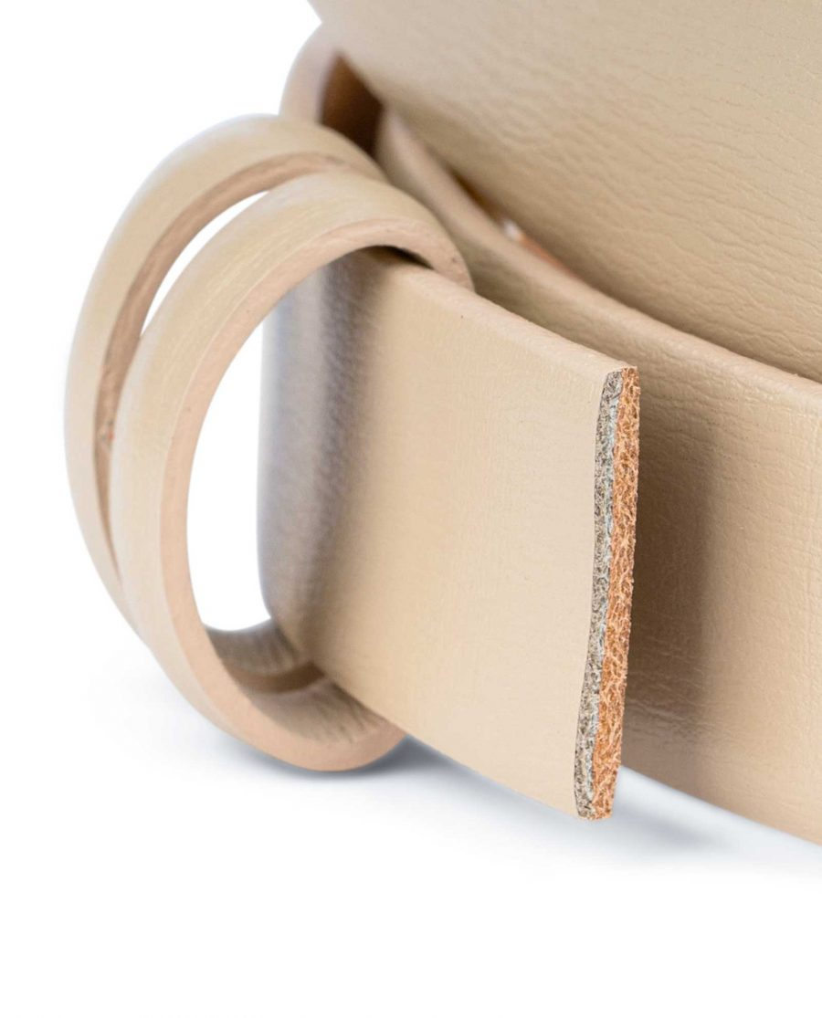 Beige-1-Inch-Wide-Leather-Belt-Strap-Replacement-Loops