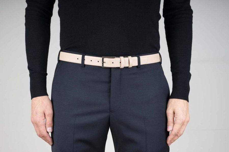 Beige-Leather-Belt-For-Men-Live-on-Pants