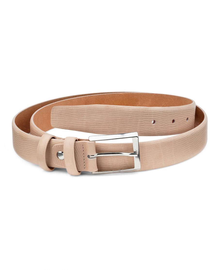 Beige-Leather-Belt-For-Men-by-Capo-Pelle-30-mm-1-1-8-inch-First-image-1