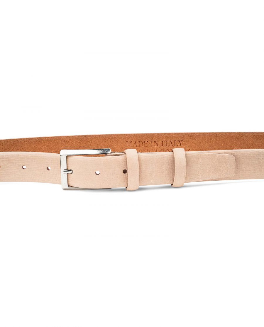 Beige-Leather-Belt-For-Men-by-Capo-Pelle-30-mm-1-1-8-inch-On-pants-1