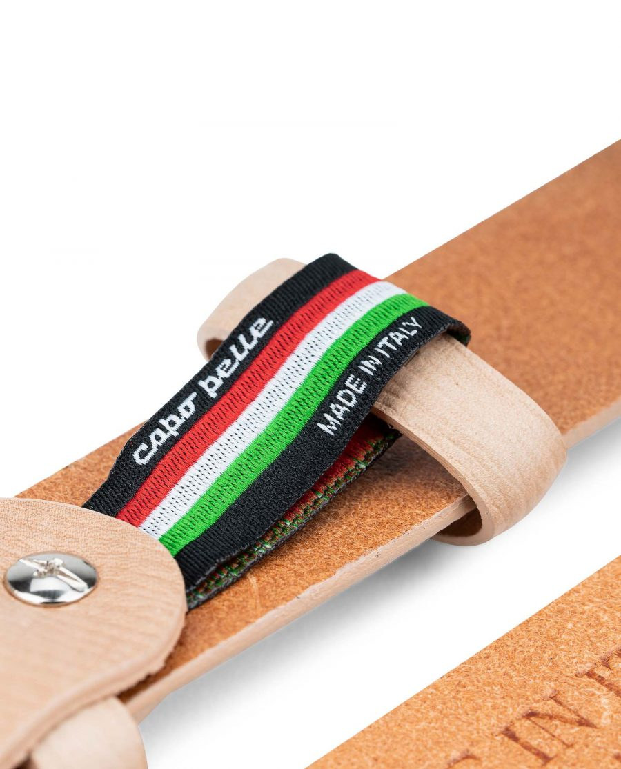 Beige-Leather-Belt-for-Men-by-Capo-Pelle-30-mm-1-1-8-inch-Belt-holder-strap-1