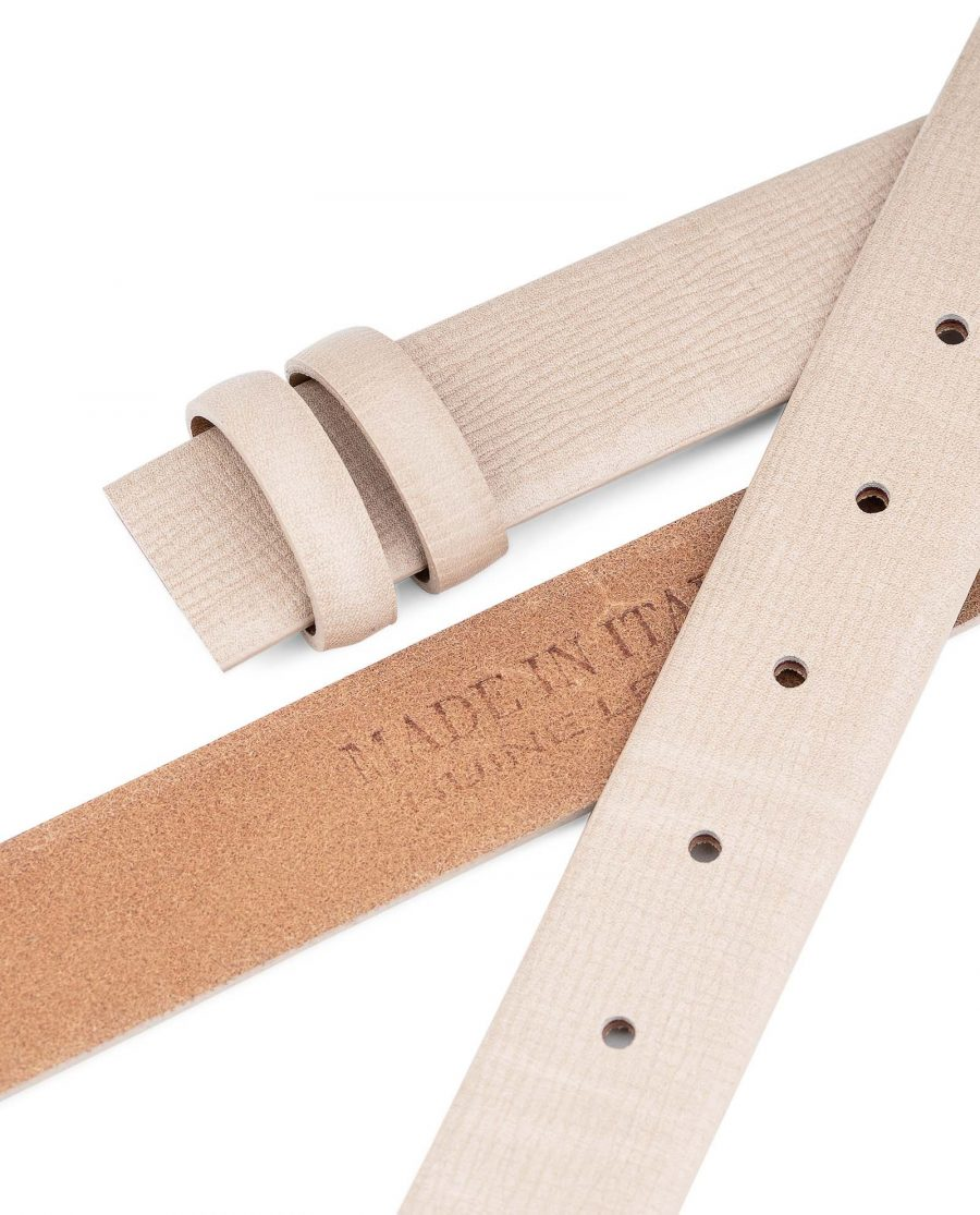 Beige-Leather-Replacement-Belt-Strap-30-mm-by-Capo-Pelle-Heat-stamp