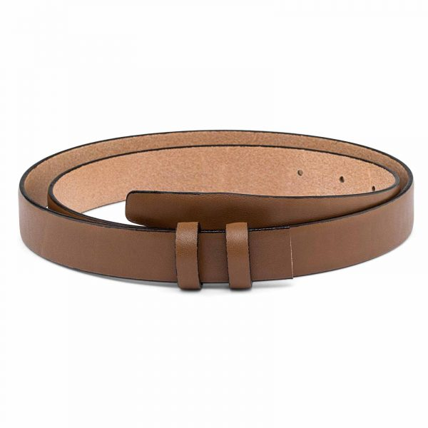 Beige-Mens-Skinny-Belt-Strap-25-mm-First-image