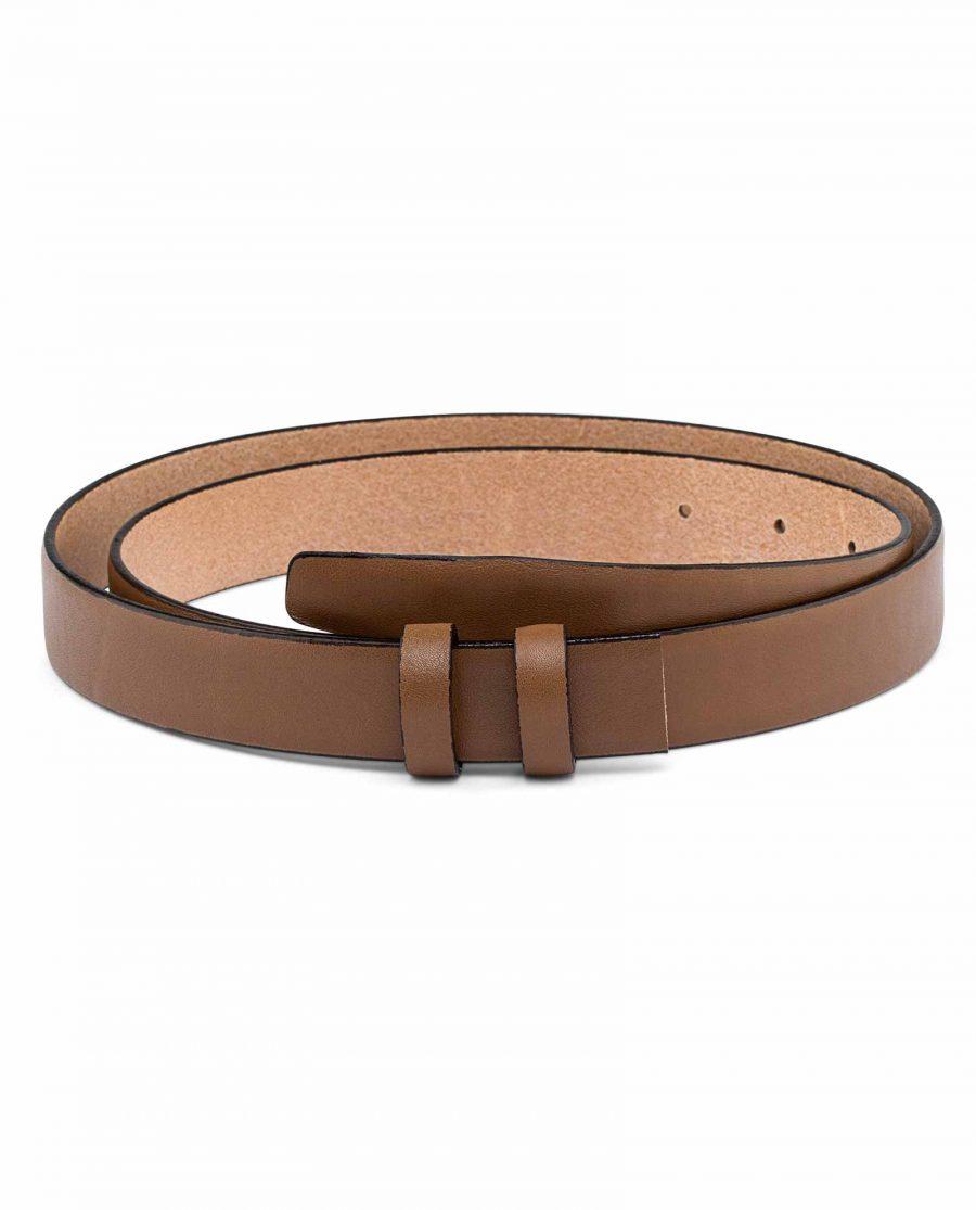 Beige-Mens-Skinny-Belt-Strap-25-mm-First-image