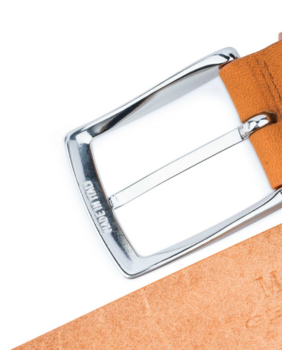 Beige-Vegetable-Tanned-Leather-Belt-Capo-Pelle-Made-in-Italy-buckle