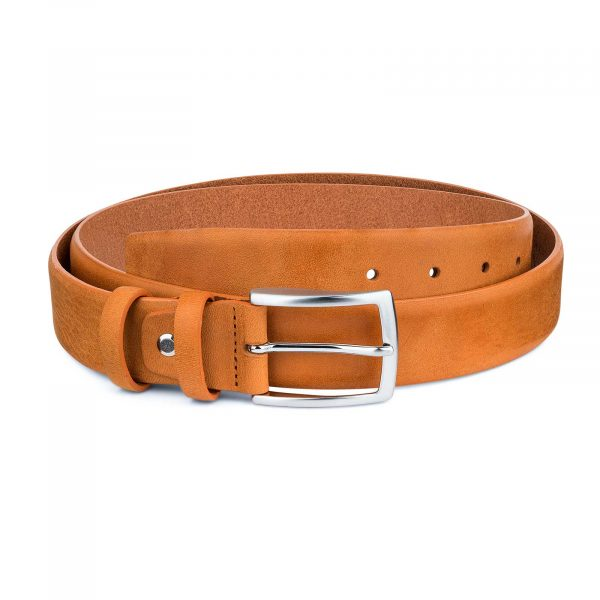 Beige-Vegetable-Tanned-Leather-Belt-Capo-Pelle-Main-picture