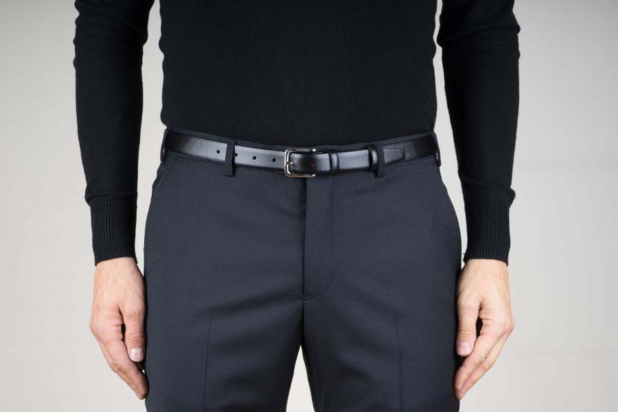 Black-1-inch-Leather-Belt-For-Men-Live-on-Pants