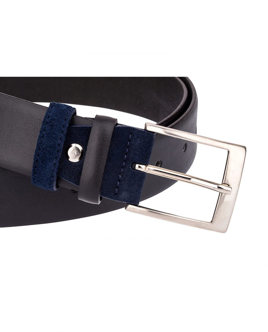 Black-Belt-Blue-Suede-Buckle-Close-image