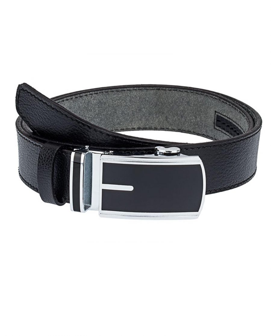 Black-Belt-With-Automatic-Buckle-Front-Image