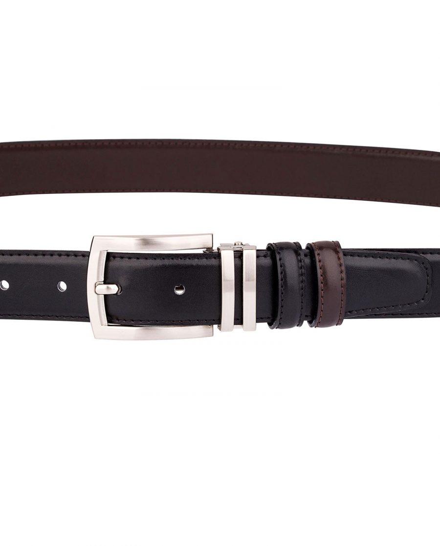 Black-Brown-Reversible-Belt-On-dress