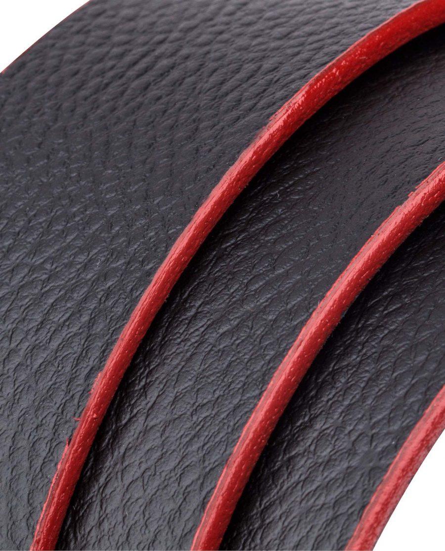 Black-Cowhide-Ratchet-Belt-Rolled-strap