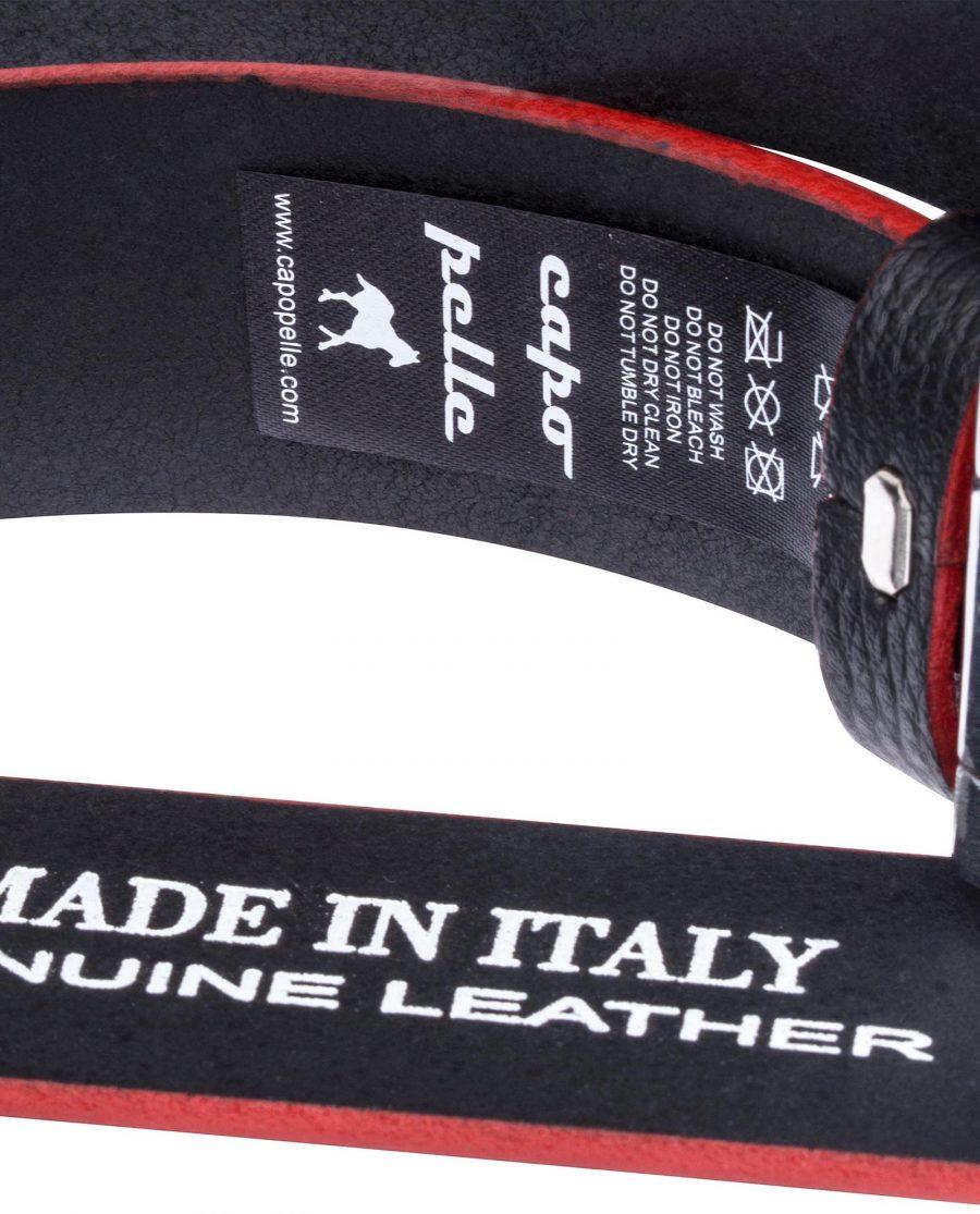 Black-Cowhide-Slide-Belt-Care-tag