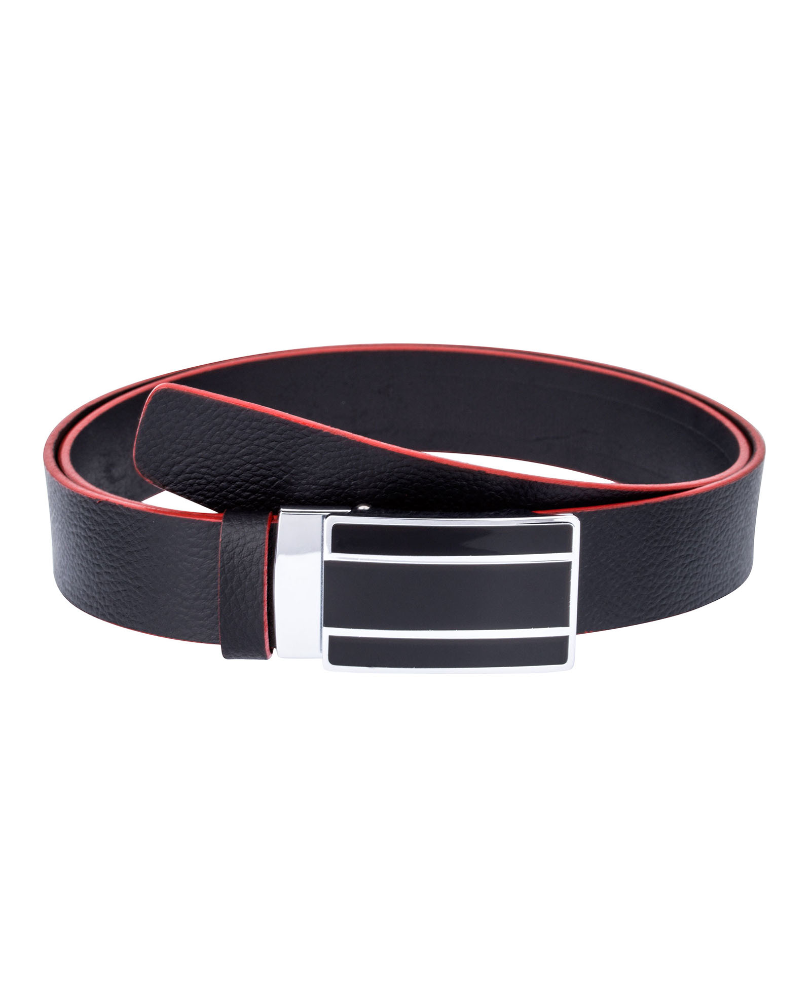 Black-Cowhide-Slide-Belt-First-picture