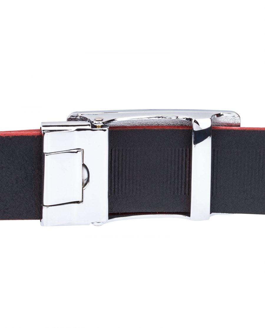 Black-Cowhide-Slide-Belt-Reverse-side
